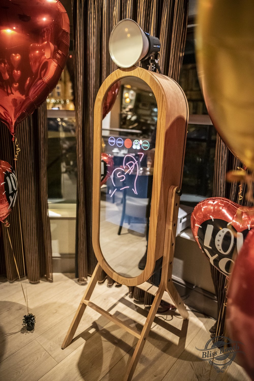 Retro Mirror Photo Booth Hire - More Info