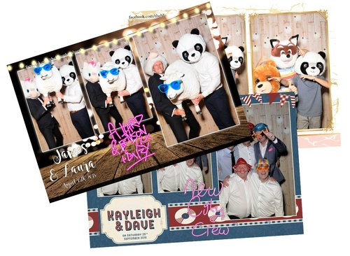 Photo booth hire customised strips for nottingham