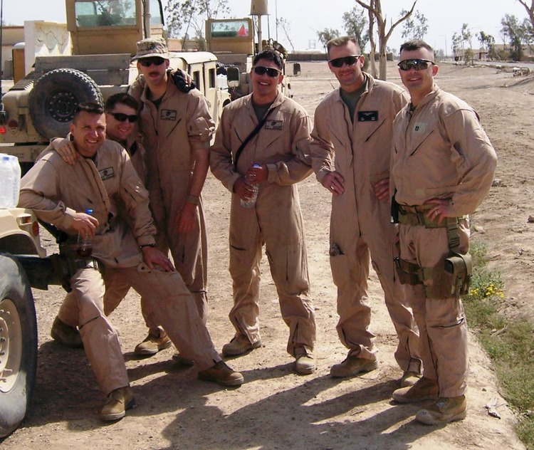 The Crew - Location: Al Anbar Province, Iraq - From left to right: Dustin Canestorp (Founder), John Eubanks, Ned Nobles, Ryan Lekosky, Briton Beck ,Mark Dumas.