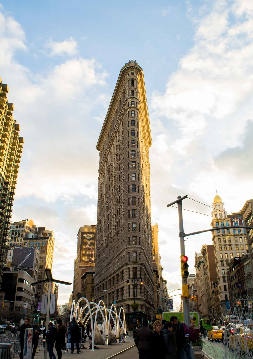 Flat Iron Building in New York City.