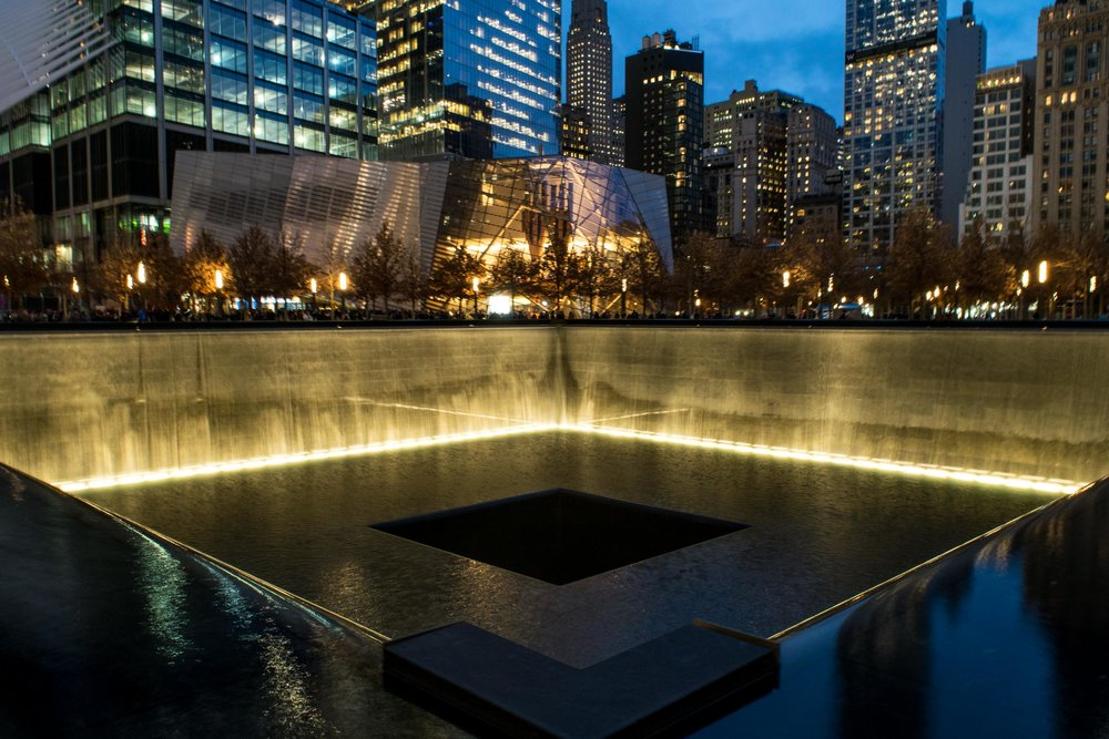 9/11 memorial at Ground Zero.