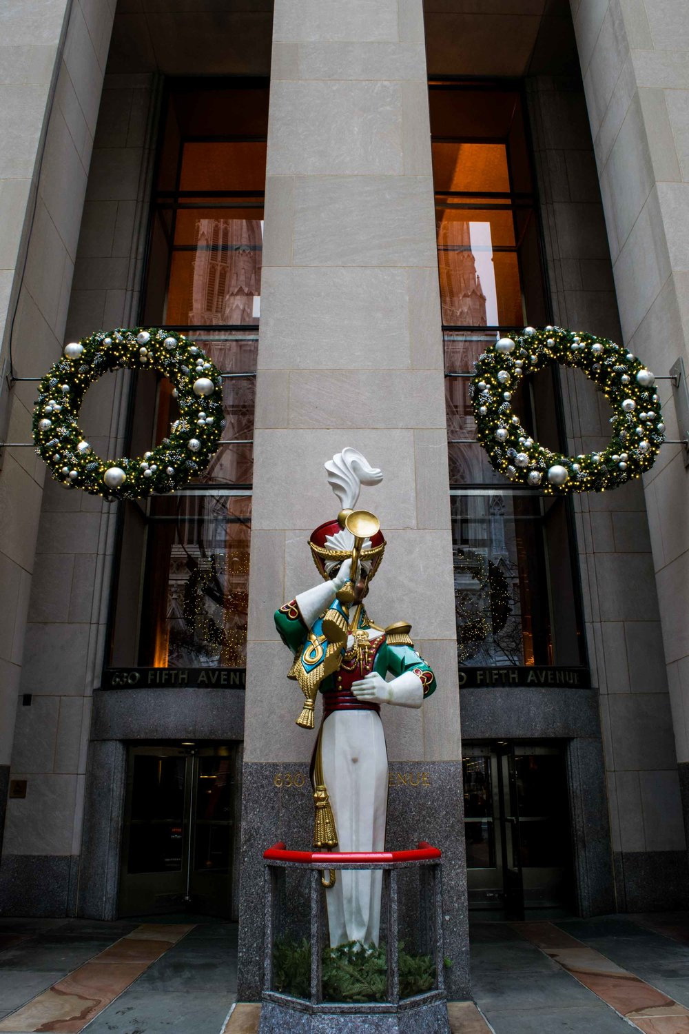 Christmas decorations at the Rockerfeller Center.