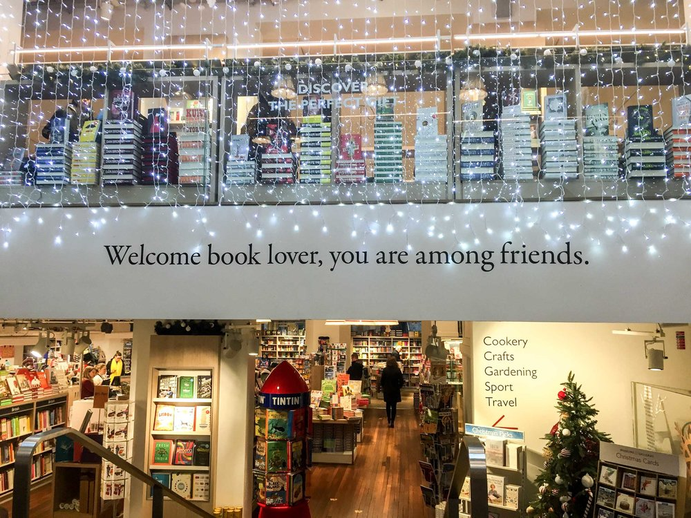 Foyles bookstore, Charing Cross. Welcome book lover, you are among friends.