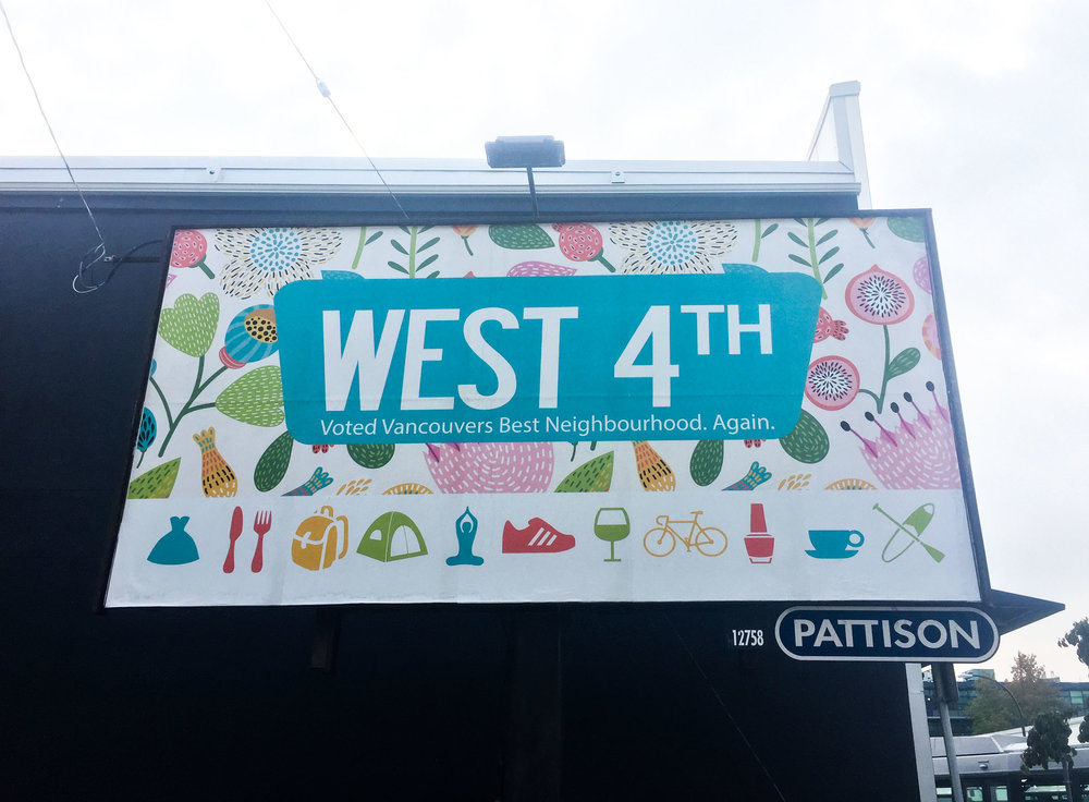 West 4th Avenue, Kitsilano. One of Vancouver's best neighbourhoods.