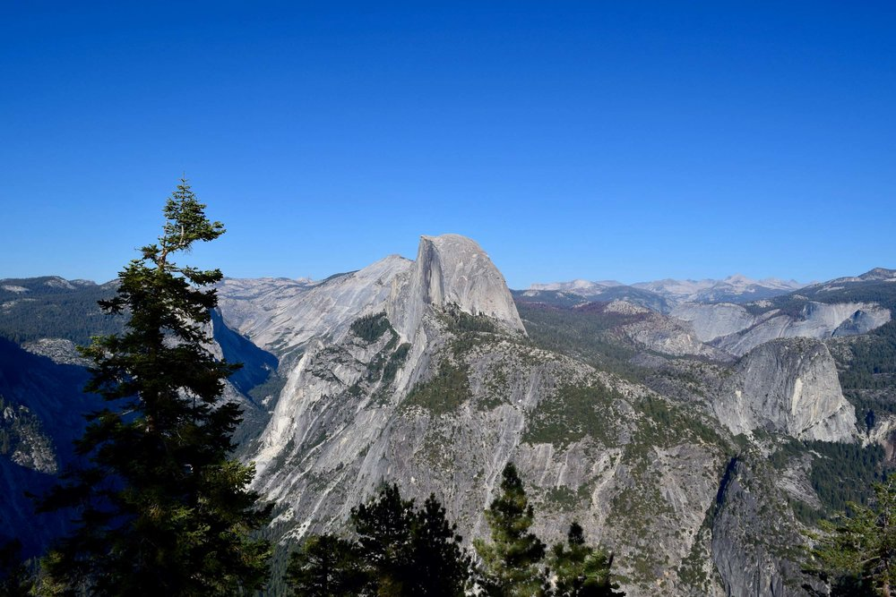 Yosemite's famous half dome. Image captured at Glacier Point in Yosemite National Park, California, USA.