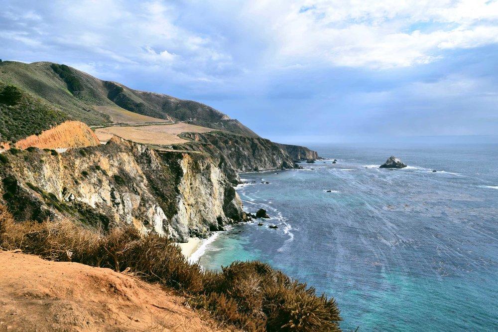 Dramatic views taken driving through Big Sur on the Pacific Coast Highway. California, USA.