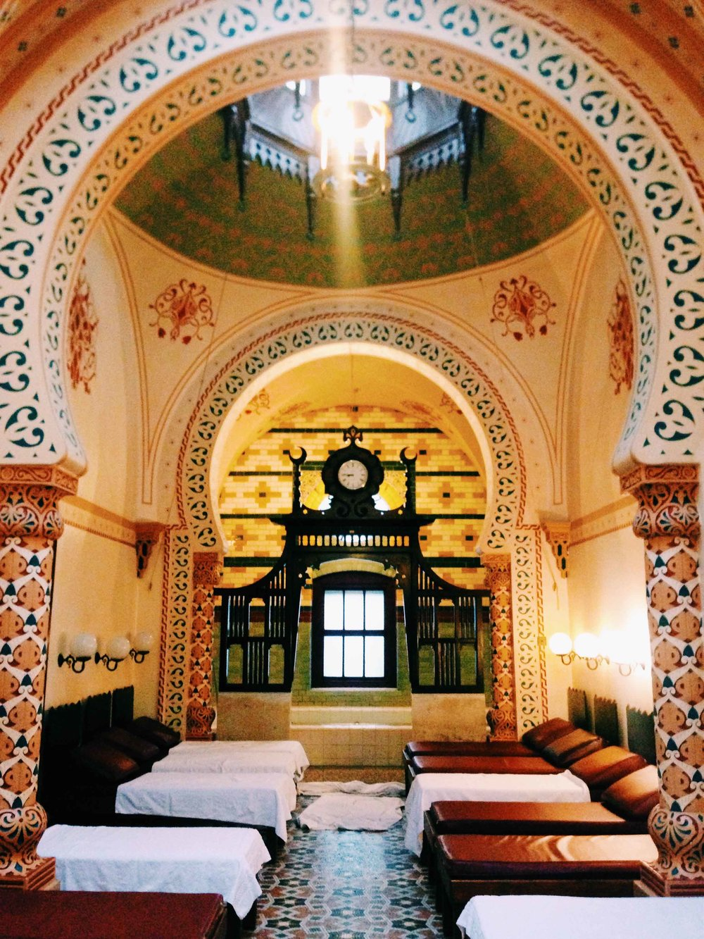 The ornate Turkish Baths in Harrogate, North Yorkshire, England.