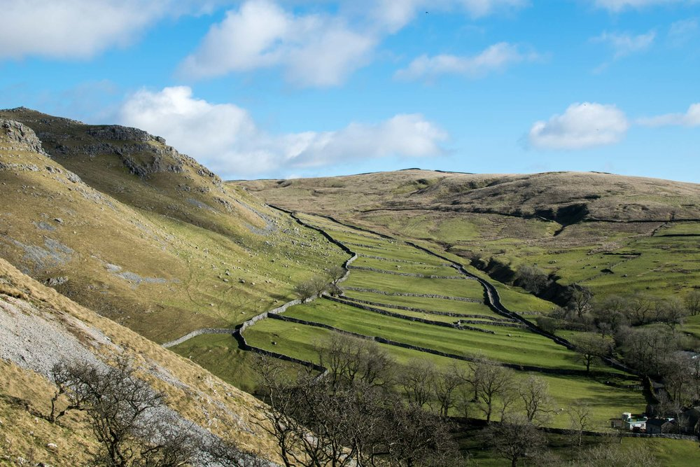 Views over the Yorkshire Dales, north England.