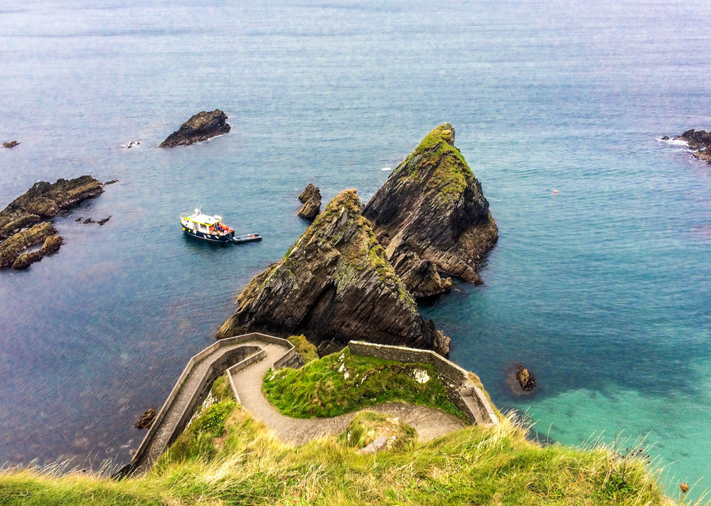 Dunquin pier on the Wild Atlantic Way, Slea Head Drive,County Kerry, Ireland.