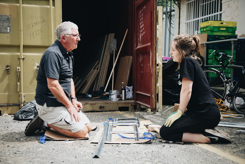 Emma invited her dad to get involved – he loved being able to roll up his sleeves and help!