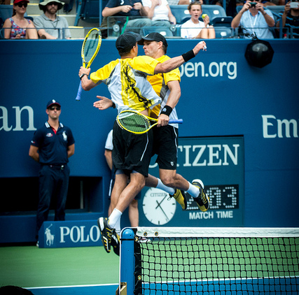 Mike & Bob Bryan  (#1 doubles team in the world, winner of 23 Grand Slam Titles)