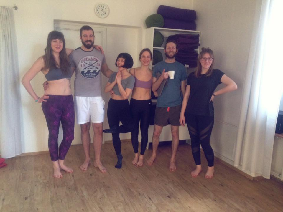 One of my group of happy yogis :D