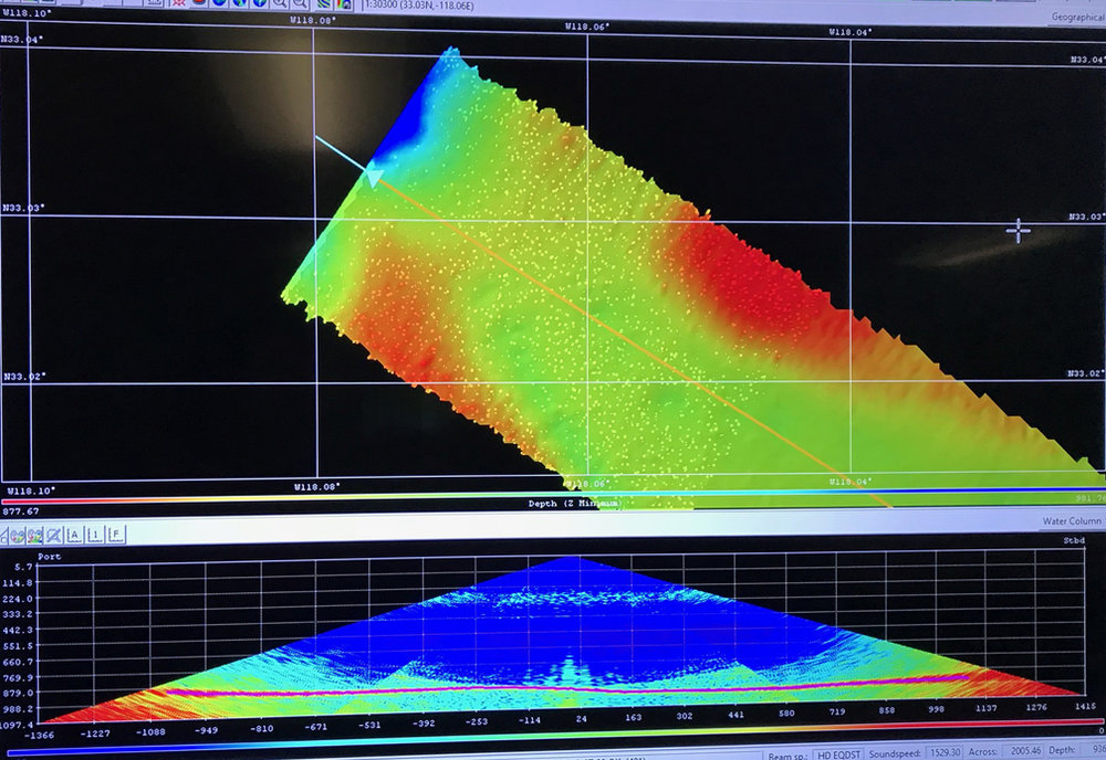 Sonar imagery from the Cascadia Margin