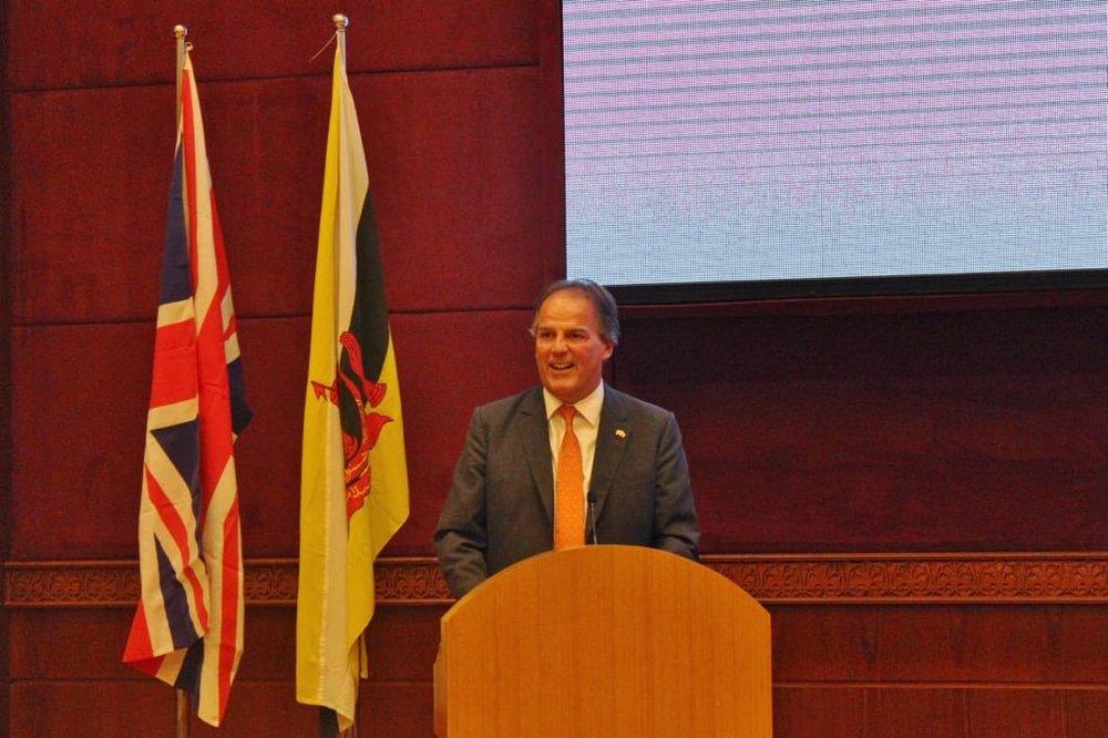 Foreign Office Minister Mark Fields in Brunei.