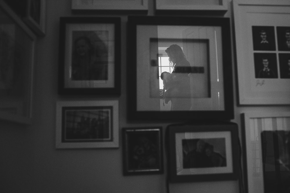 Family portrait reflection