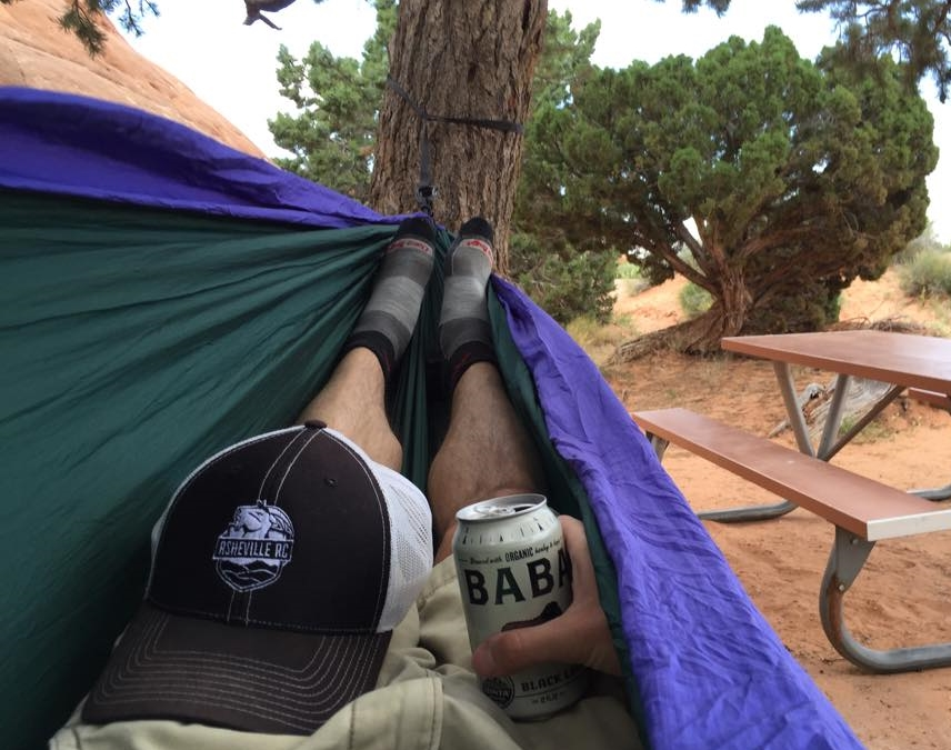 Relaxing in Arches National Park
