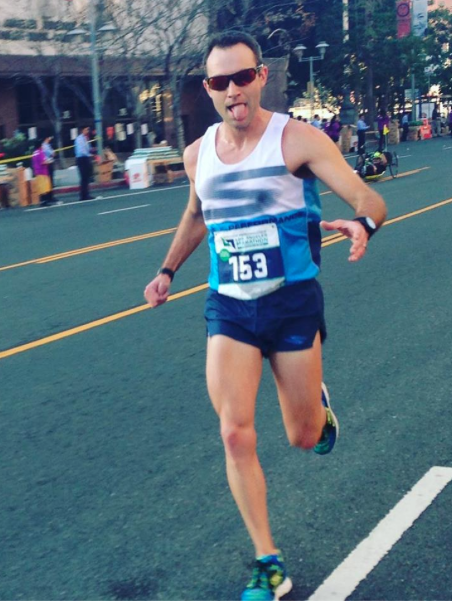 Caleb early in the LA Marathon