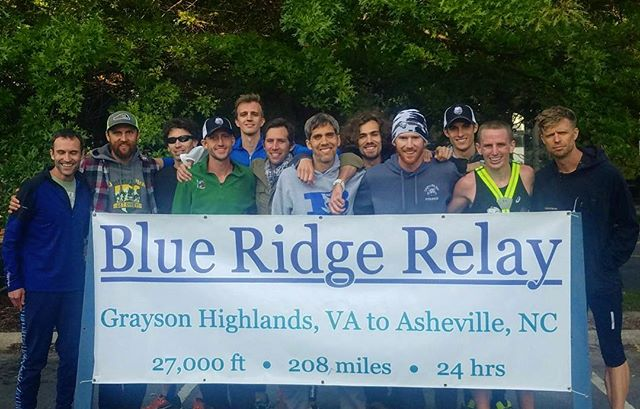Victory! 19 hours and 12 minutes of hard hilly racing is in the books. In all it was 36 legs over 208 miles with 16k feet of ascent and 19k feet of descent at an average of 5:35 per mile.  ____ Hats off to our eternal rivals @run_charlotte, who never backed down. Both teams eclipsed the previous CR by 30+ minutes.  ____ @thejbac - any interest in a battle of the best relay teams next year?