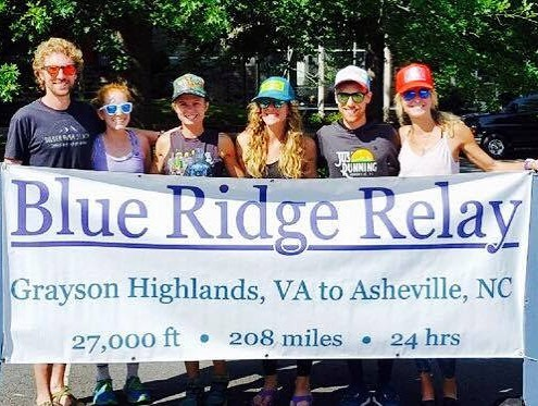 The open men's team was not the only group of Collective racers in action at #blueridgerelay2017. A group of ARC women took part in the winning mixed-ultra team. Ginna Reid, Kate Schwartz, Anne Wheatly, and Ashley Arnold joined forces with Joe Ainsworth and Kurt Wilson to set a new division record with a sub-24 clocking.  #devotetothegoat #fearthepony