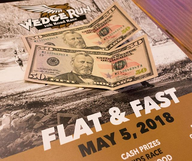 Come race for cash at this Saturday's Wedge Run 10k. --- $200, $100, and $50 for top 3 men and women. Plus, we've got a $50 mid-race prime to keep things interesting. --- Join us at @wedgebrewing at the Foundation. Gun goes off at 10 AM.  Check out the link in our bio for more info. --- #run828 #828isgreat