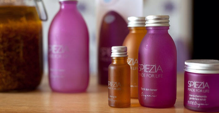 Spiezia 100% Organic Skincare made in Cornwall