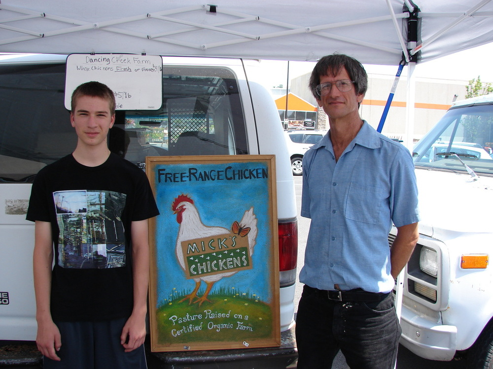 Thanks to the North Atherton Farmer's Market for the photo of Mick and his son, now a few years older.