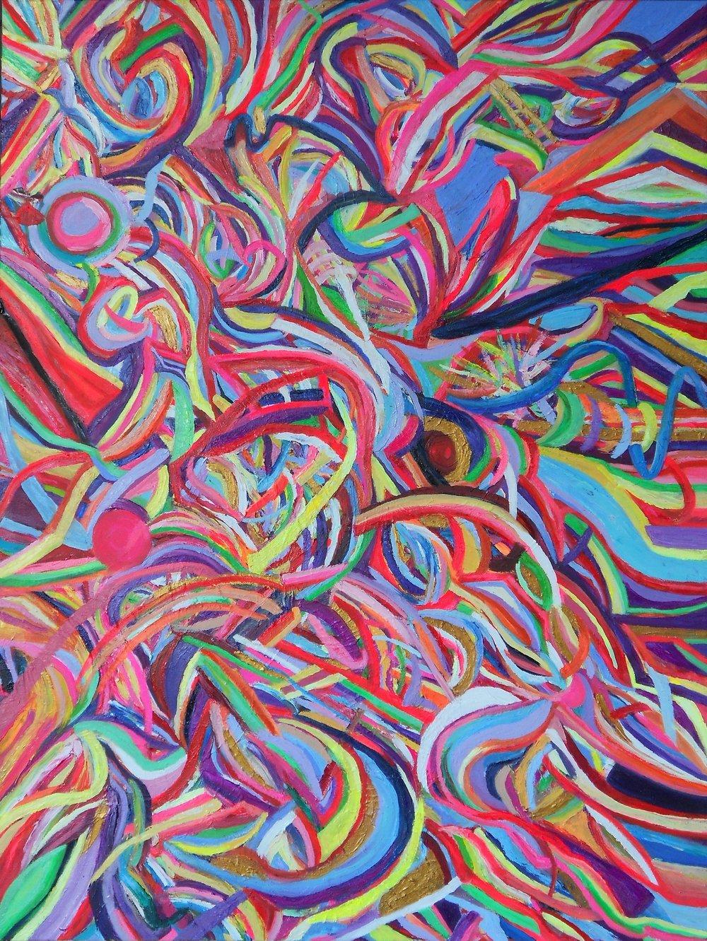 03.%22August Colors, Sun%22 48%22x36%22 oil on canvas, 2013.JPG