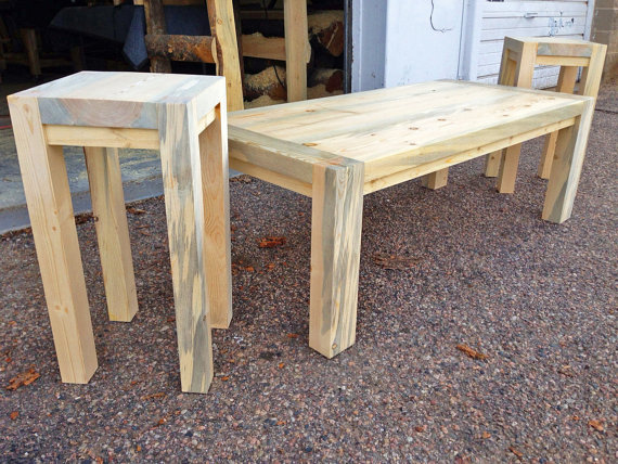 Chatfield Coffee  and  End Tables  in Natural Stain Color • Contact Us about any questions