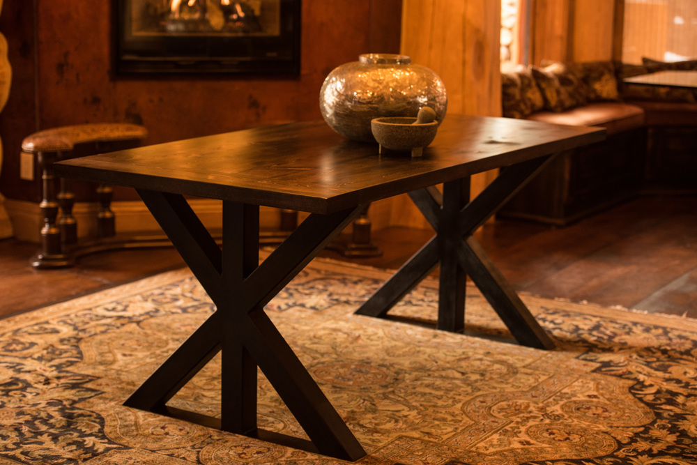 "Big Horn 2""  Click the image to enter the Shop and view the different sizes and stain colors in the Big Horn 2"" thick table"