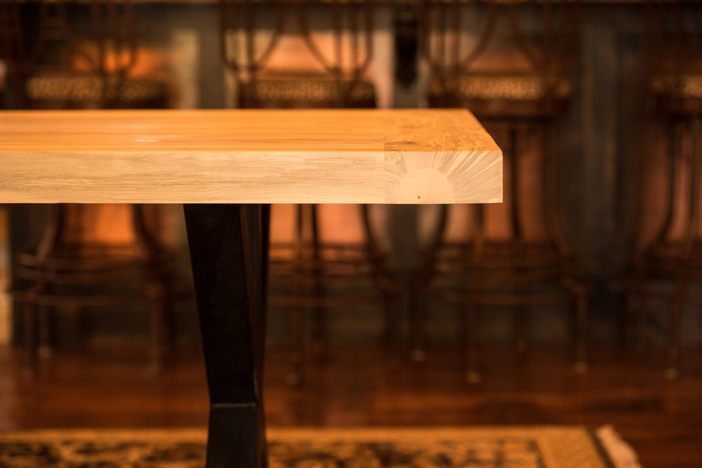 "Big Horn 3""  Click the image to enter the Shop and view the different sizes and stain colors in the Big Horn 3"" thick table"