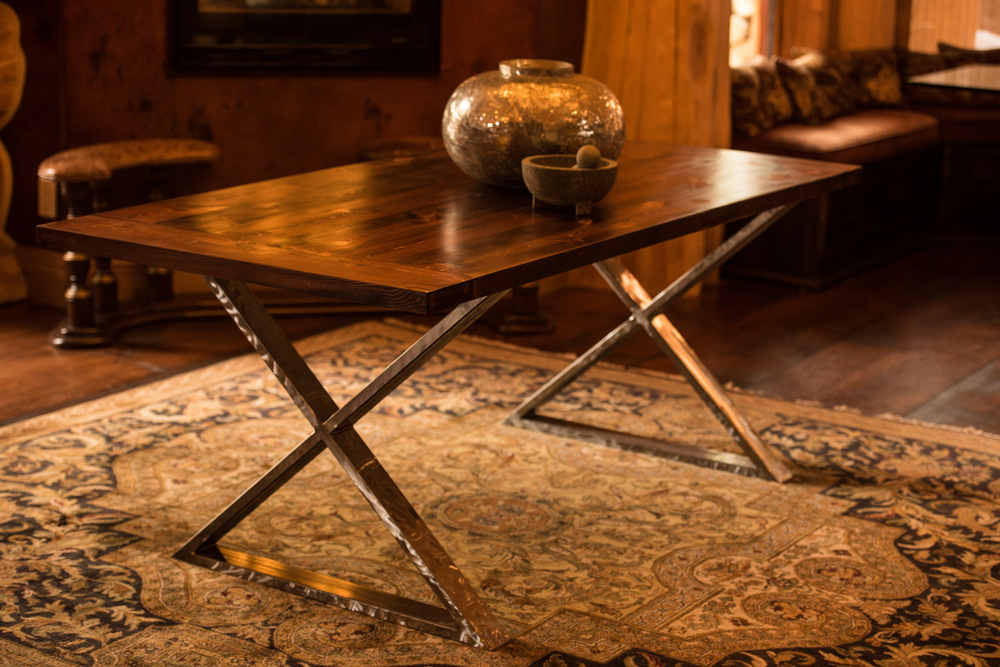 Matterhorn  Click the image to enter the Shop and view the different sizes and stain colors in the Matterhorn table