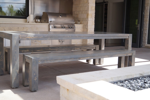 Chatfield Dining Table In Grey Stain Color