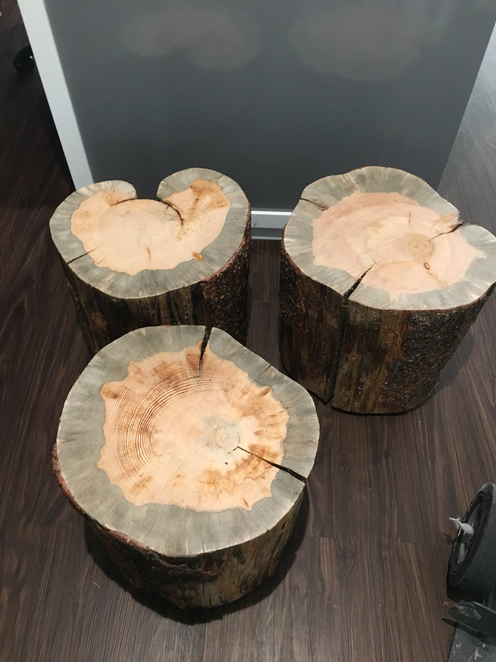We Recently Started To Carry A New Item In Our Inventory. We Now Make Custom  Beetle Kill Pine Stump Tables. You Can Request A Custom Size And Stain  Color Or ...
