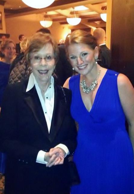 Ashley with Carol Burnett