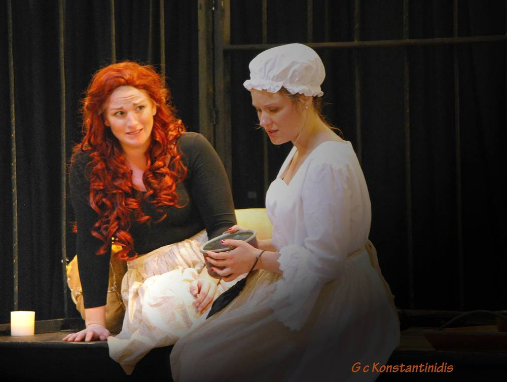 Alice Ryley in  Alice Ryley. With Ann Louise Glasser as Mary. Photo by George Konstantinidis.
