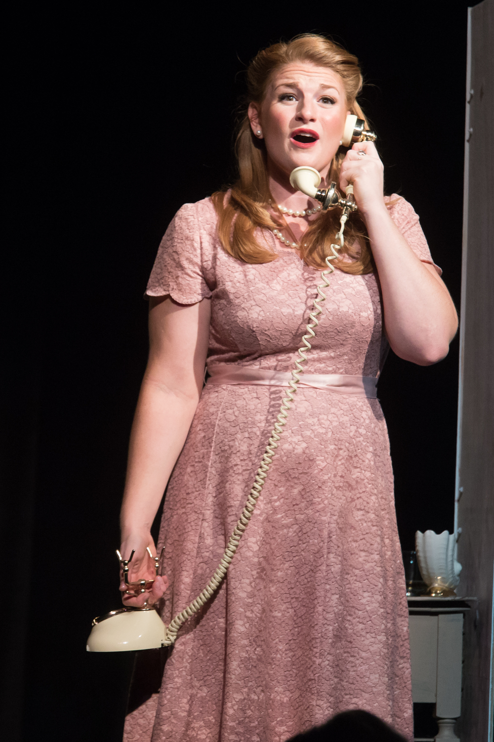 Lucy in  The Telephone.  Photo cred: Kelly Hicks