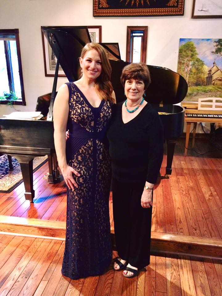 Ashley with Pianist, Vicki Cavendish after their Art Song Collaboration on March 26 in Charleston, WV.