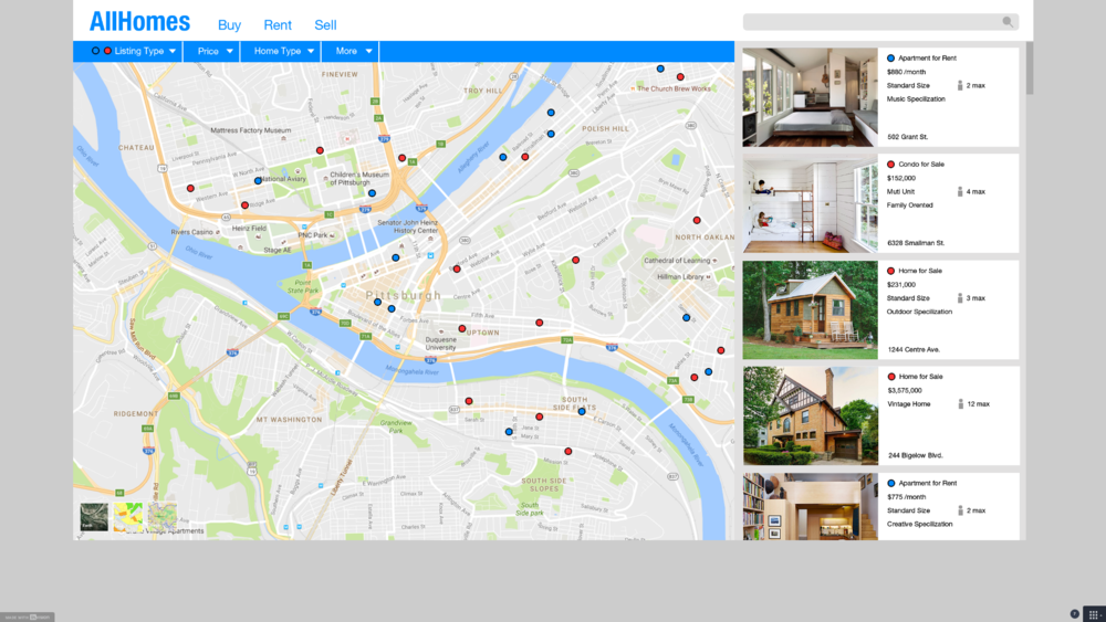 Home Search Site Prototype (Click on image to visit page)