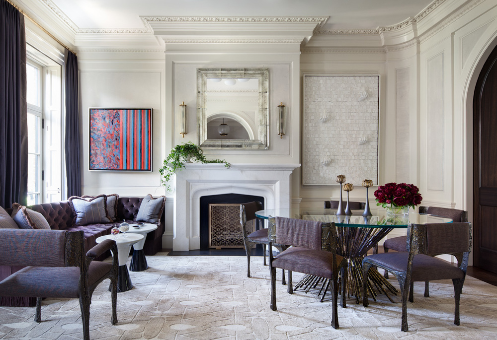 West village townhouse shawn henderson for Square room interior design review