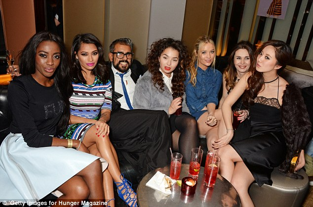 Vanessa White, Azim Majid, Ella Eyre, Laura Whitmore, Betty Bachz at Hunger Magazine Party