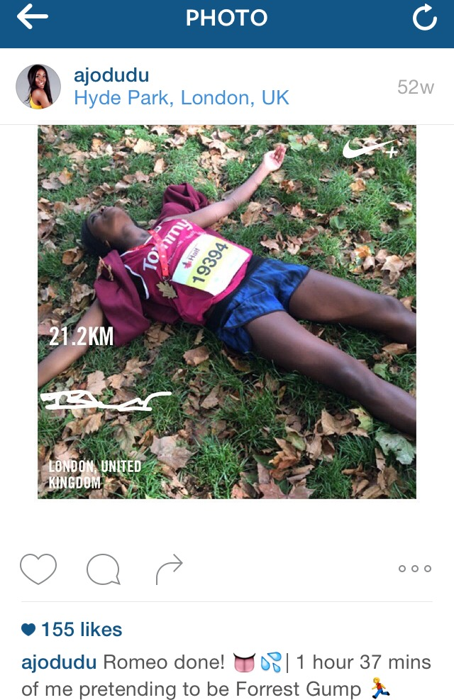 AJ Odudu Instagram