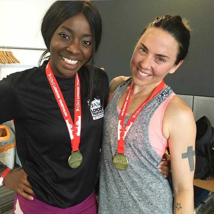Mel C and AJ Odudu