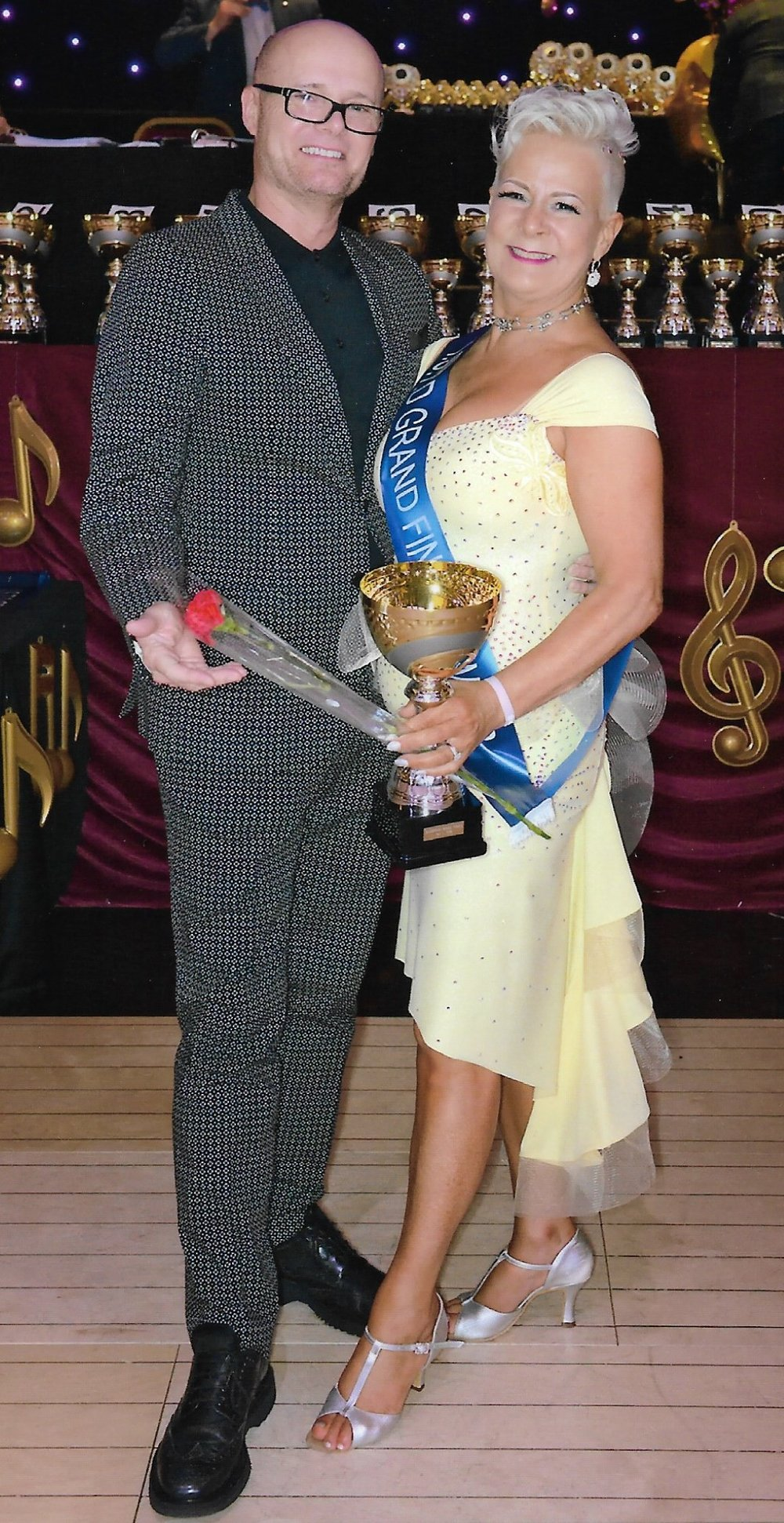 Terri Richmond doing the double!! Winner of Grand Finals in Blackpool WinterGardens 4 years on the trot 2015, 2016, 2017 in Ballroom and now Ballroom and Latin winner 2018. 5 sashes in 4 years! This in addition to being 2018 Pro-Amateur Ballroom over 60s winner at Champions of Tomorrow! Well done Terri Richmond.