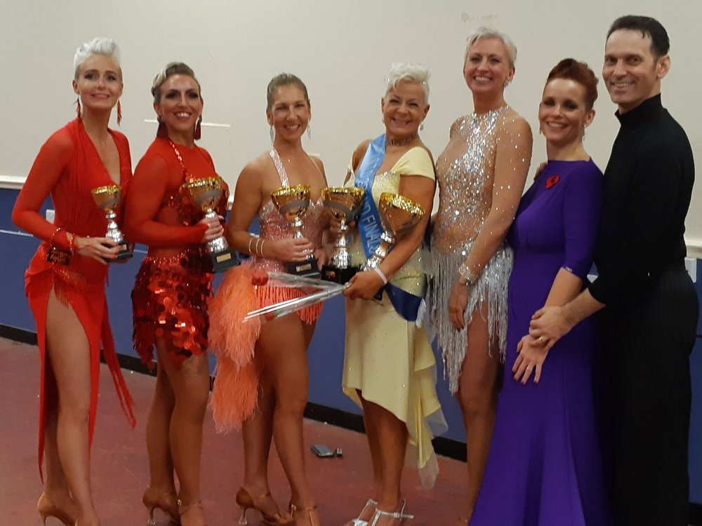 AWESOME BLACKPOOL GRAND FINALS 2018!!! from 9 adults the 5 finalists!! 3 blue sashes, three 2nds and two 4ths Rozz 2nd and 4th, Beth 2nd, Paula 1st and 2nd, Terri !st and 1st with 5 sahes in 4 years!!