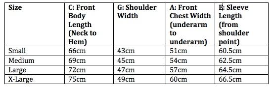 L/S Oxford Shirt Size