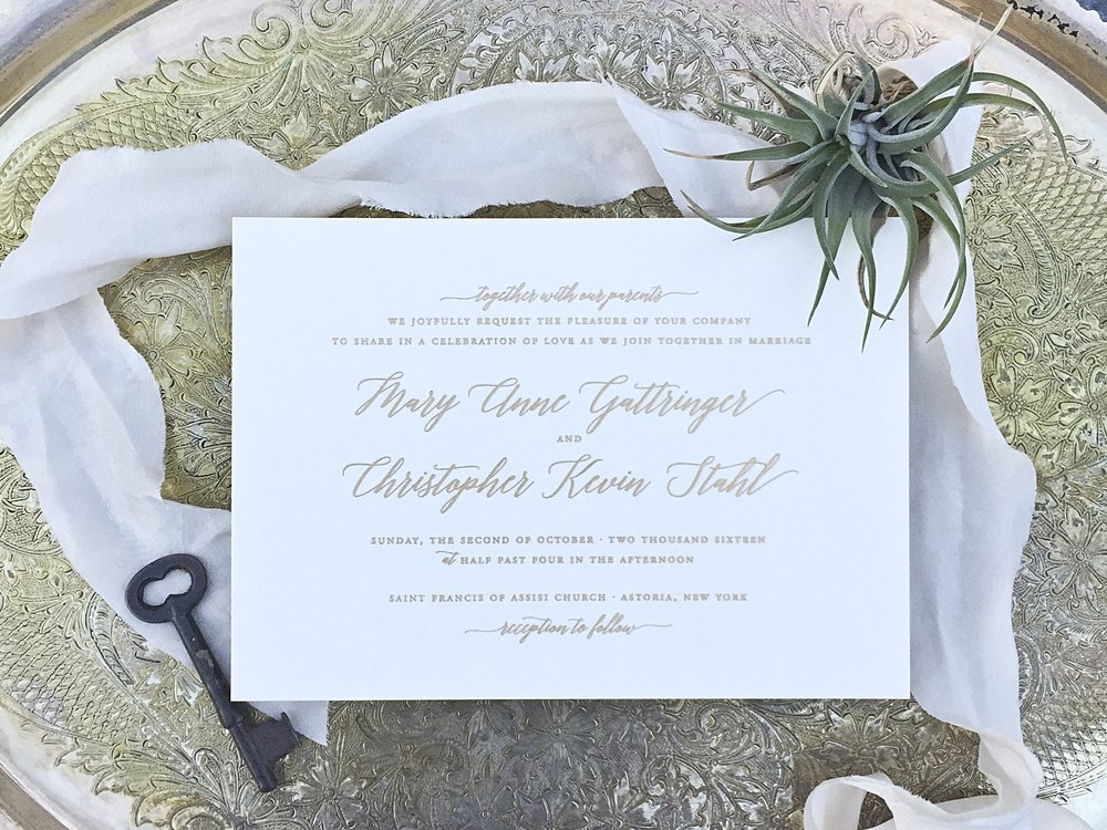 The AV Design Factory - The Metropolitan Wedding Invitation Collection