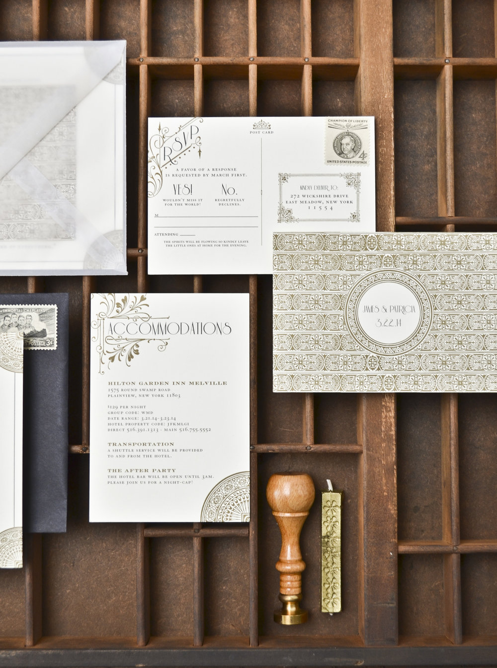 The AV Design Factory - Fitzgerald Wedding Invitation Suite