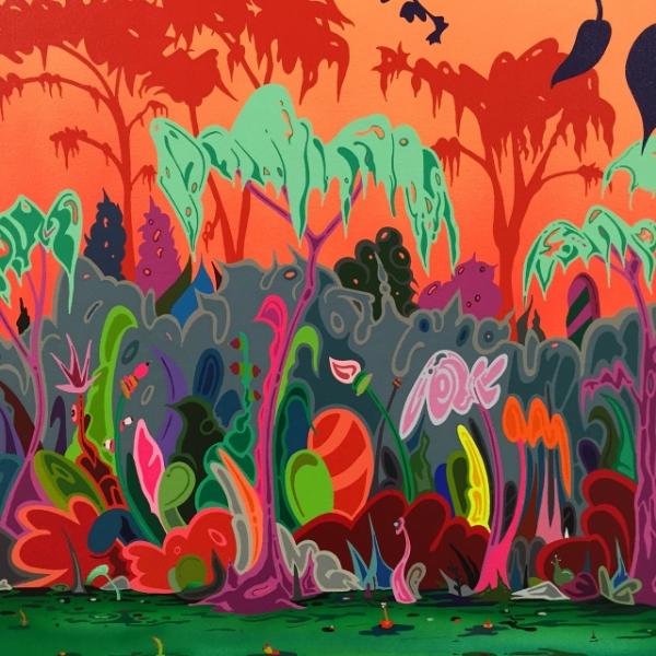 Illustrative Painting by Erik Parker