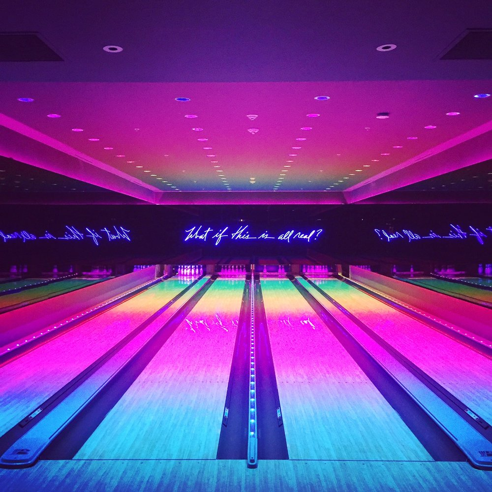 Edition Hotel Exclusive underground Club... with bowling alley bottle service and ice rink.