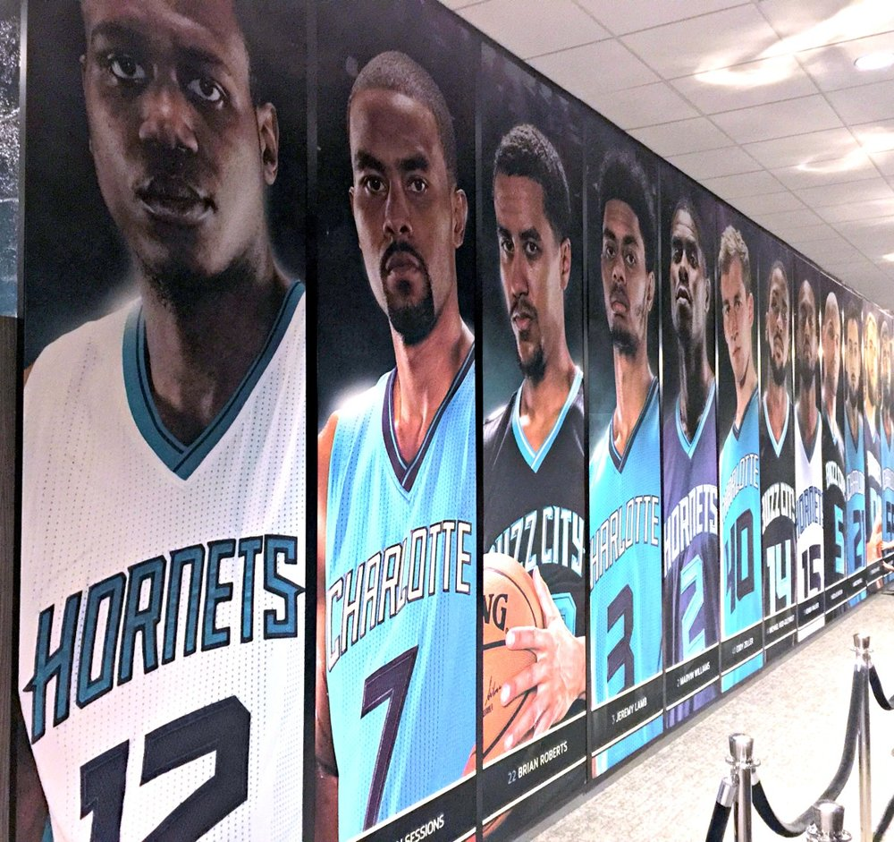 XP Retail - Charlotte Hornets Player Wall